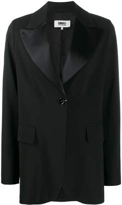 MM6 MAISON MARGIELA satin lapel blazer