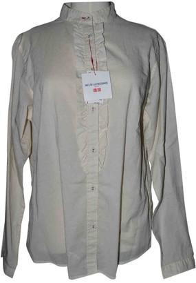 Uniqlo Ecru Cotton Top for Women