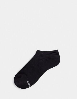 Calvin Klein Retro Logo Liner Socks in black