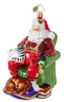 Christopher Radko Snoozing Santa Figurine