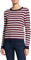 Autumn Cashmere Multi-Stripe Crewneck Sweater