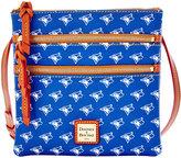 Dooney & Bourke Toronto Blue Jays Triple Zip Crossbody Bag