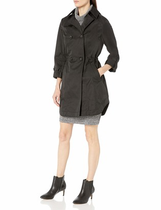 Lark & Ro Amazon Brand Women's Double Breasted Cinch Trench Coat