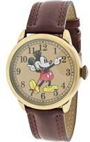 "Disney Men's MCK958 Vintage"" Mickey Mouse Brown Leather Watch"