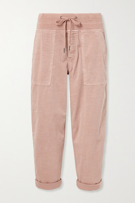 James Perse Cropped Cotton-blend Twill Cargo Pants - Pink