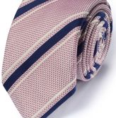 Charles Tyrwhitt Light red silk mix Italian luxury stripe grenadine tie