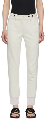 Ann Demeulemeester Off-White Double Cuff Trousers