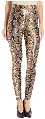 Commando Faux Leather Leggings SLG50 (Snake) Women's Casual Pants