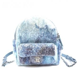 Chanel Blue Glitter Backpacks