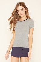 Forever 21 Micro-Striped Tee