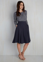 Just This Sway Midi Skirt in Navy in 3X