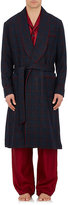 Barneys New York Men's Plaid Wool-Cashmere Robe-Navy