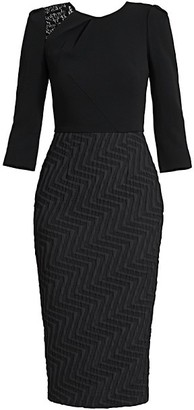 Roland Mouret Palatine Textured Sheath Dress