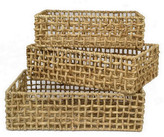 Three Hands Water Hyacinth Baskets - Set of 3