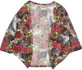 River Island Girls red floral print cardigan