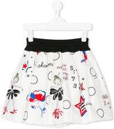Simonetta pleated skirt with print
