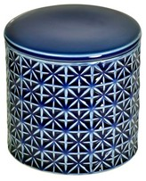 Threshold Glazed Geo Canister with Lid Blue
