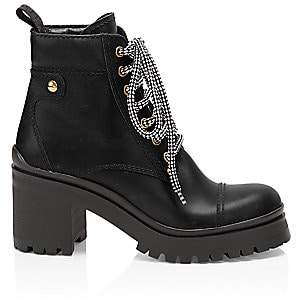 Miu Miu Women's Nevermind Leather Combat Boots