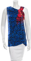 Veronica Beard Silk Abstract Print Top