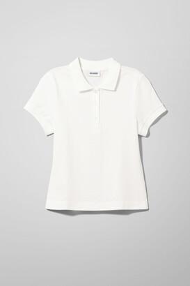 Weekday Oria Polo Shirt - White