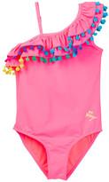 Betsey Johnson Pompom One-Piece Swimsuit (Big Girls)