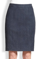 Akris Punto Denim Pencil Skirt