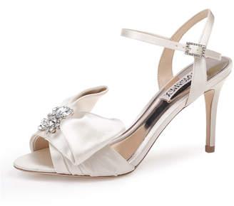 Badgley Mischka Samantha Embellished Satin Bow Sandals