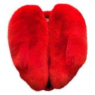 Saint Laurent Red Fox Coat for Women