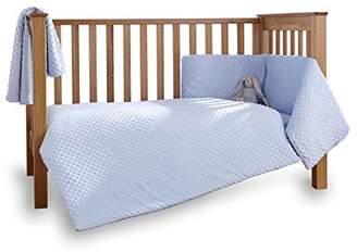 Clair De Lune Dimple 3 Piece Cot/Cot Bed Quilt & Bumper Bedding Set