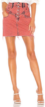 Mother The Swooner Yoke Front A-Line Skirt.