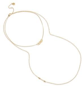 AllSaints Gold-Tone Hexagon-Link Layered Bar Necklace, 15-17