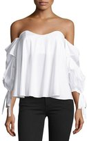 Caroline Constas Gabriella Off-The-Shoulder Bustier Top