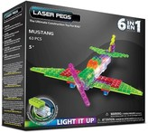 Laser Pegs 6 in 1 Mustang Lighted Construction Toy