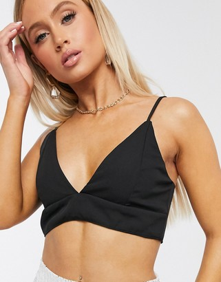Club L London Club L tailored crop top two-piece in black