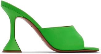 Amina Muaddi Green Lupita Slipper Heels