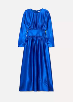 Deitas Hermin Silk-satin Maxi Dress - Blue