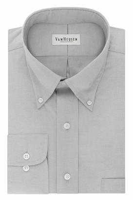 Van Heusen Men's Dress Shirt Regular Fit Non Iron Solid