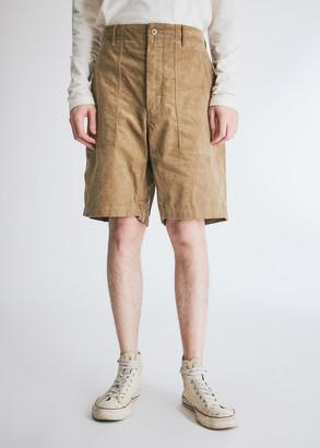 Engineered Garments Men's Fatigue Short in Khaki, Size Large | 100% Cotton
