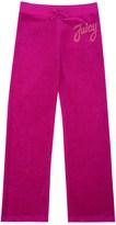 Juicy Couture Girls Logo Velour Juicy Stud Script Mar Vista Pant
