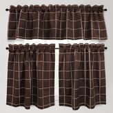 Park B. Smith Durham Square Kitchen Window Curtain Tier Pair