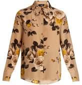 Rochas Floral-print silk shirt