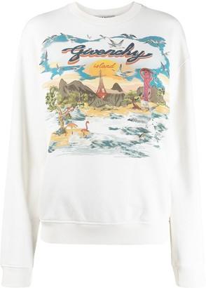 Givenchy Island crew neck sweatshirt