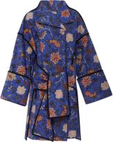 Diane von Furstenberg Front Tie Floral Parka