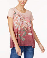 Style&Co. Style & Co Embellished Floral-Print Swing Top, Created for Macy's