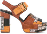 See by Chloe snakeprint buckled sandals - women - Calf Leather/Leather - 36