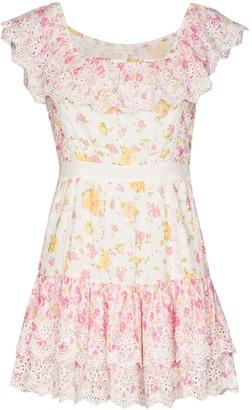 LoveShackFancy Denver floral-printed mini dress