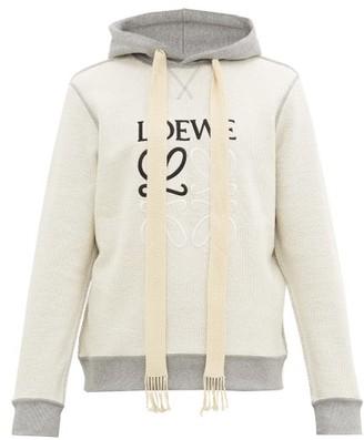 Loewe Inside-out Anagram-embroidered Hooded Sweatshirt - Grey