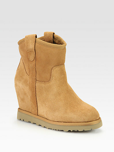 Ash Yahoo Suede Wedge Ankle Boots