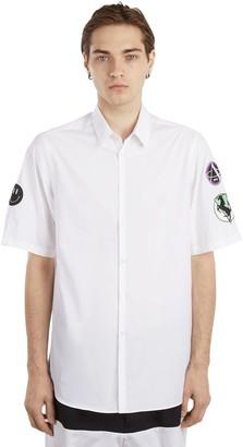 Raf Simons Cotton Poplin Shirt W/ Patches