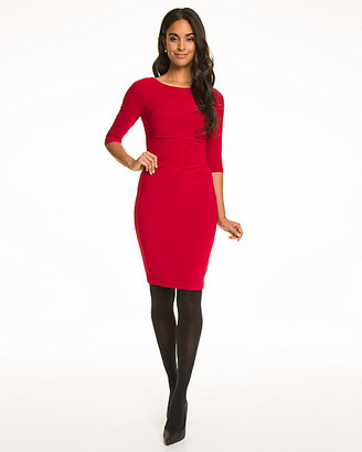 Le Château Knit Boat Neck Shift Dress